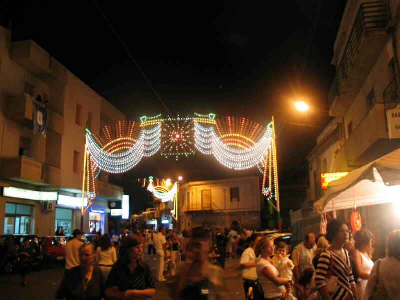 one of the many patron saint festivals that light up the small calabrian towns