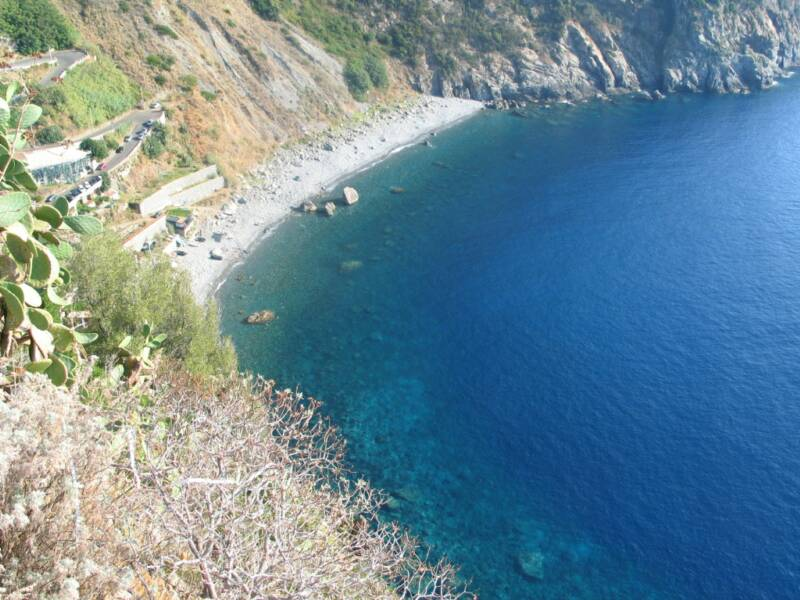 secluded beach in Palmi called La Marinella - 20 min drive from villetta mimma vittoria