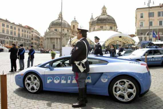 "ROME, Italy (AP) -- Italian drivers who like to use highways as their personal speed-tracks are about to lose the race.Italy's state police presented a sleek new addition Friday: a Lamborghini Gallardo, with a top speed of 309 kph (192 mph). The car is ready for service, bedecked with a siren, painted blue-and-white, and the word ""POLIZIA"" -- ""police"" -- stenciled on the side.Police showed it off at an anniversary celebration in Rome on Friday. They said the Lamborghini will be used on the Salerno-Reggio Calabria highway in southern Italy, for emergencies and to transport organs for transplant.Lamborghini, which is owned by Volkswagen and based near Bologna in northern Italy, donated the car. The six-speed, two-door luxury vehicle promises the ability to go from zero to 100 kph (60 mph) in four seconds, and has a list price of US$165,000 (euro145,180 in Europe)."