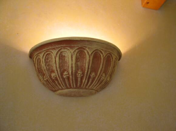 terra cotta wall sconce